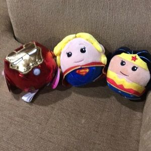 NWT Set of 3 Hallmark superhero fluff balls